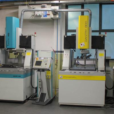 Plunge spark erosion machines ops ingersoll gantry 800 with automatic electrode changer and integrated control